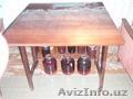 стол полированный стулья табуреты
