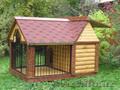 Красивые,  резные будки для собак из дерева и металла