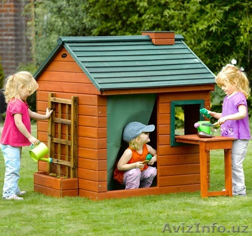 Деревянные детские игровые домики своими руками