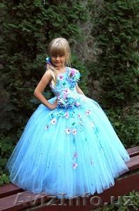 Голубое платье фото детское