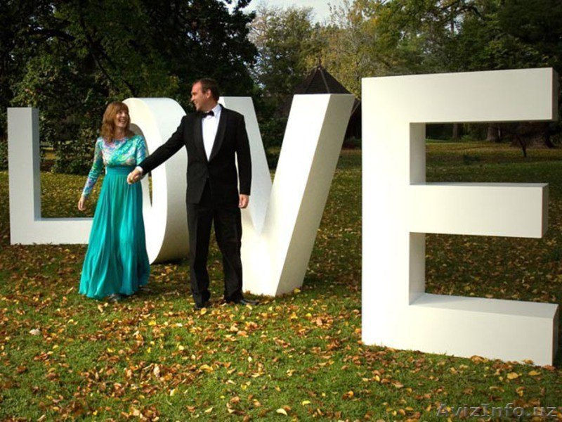 Пенопластовые буквы для свадьбы