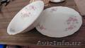 Тарелки из столового сервиза Розовые цветы