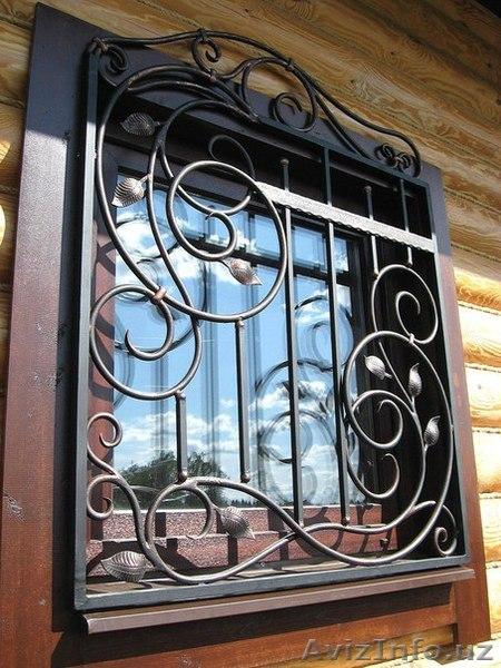 Художественная ковка решетки на окна