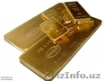 Золото 999, 9 пробы в слитках.