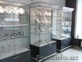 Стеклянные витрины готовые и на заказ: с подсветкой,  угловая стеклянная,  витрина